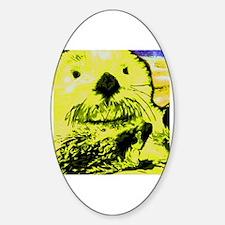 Kids sea otter Sticker (Oval)