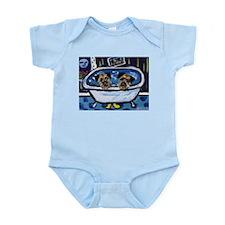 BORDER TERRIER bath Infant Creeper