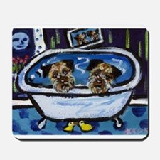 BORDER TERRIER bath Mousepad