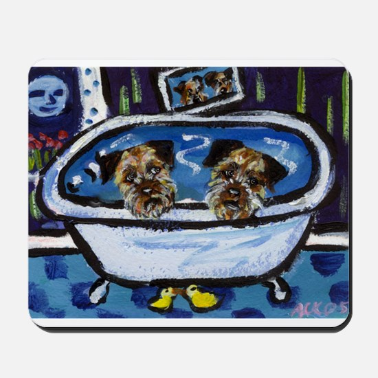 BORDER TERRIER bath Mousepad