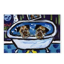 BORDER TERRIER bath Postcards (Package of 8)
