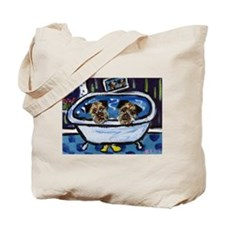 BORDER TERRIER bath Tote Bag