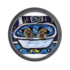 BORDER TERRIER bath Wall Clock