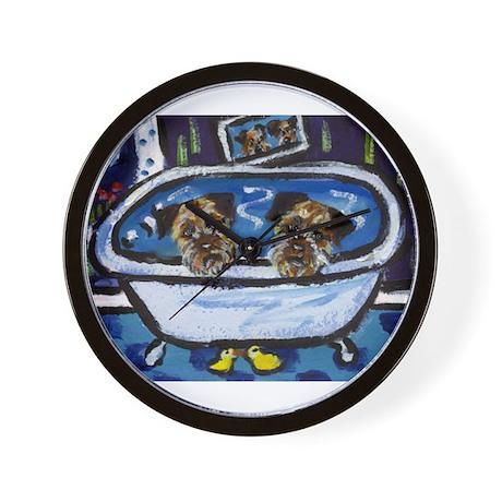 BORDER TERRIER Bath Wall Clock