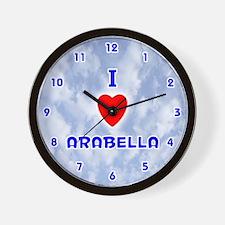I Love Arabella (Blue) Valentine Wall Clock