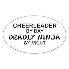 Cheerleader Deadly Ninja Oval Decal