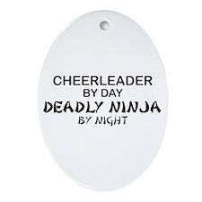 Cheerleader Deadly Ninja Oval Ornament
