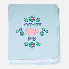 Peace Love Turtles baby blanket