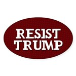 Resist Trump Oval Sticker