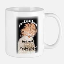 Frizzled But Not Frazzled Rooster Mugs