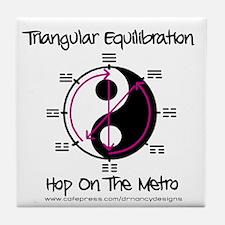 Triangular Equilibration Tile Coaster