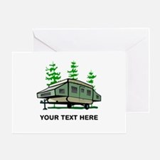 Camping Popup Trailer Home Greeting Card