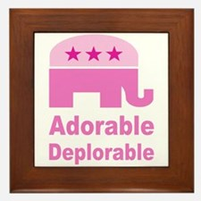 Adorable Deplorable Framed Tile