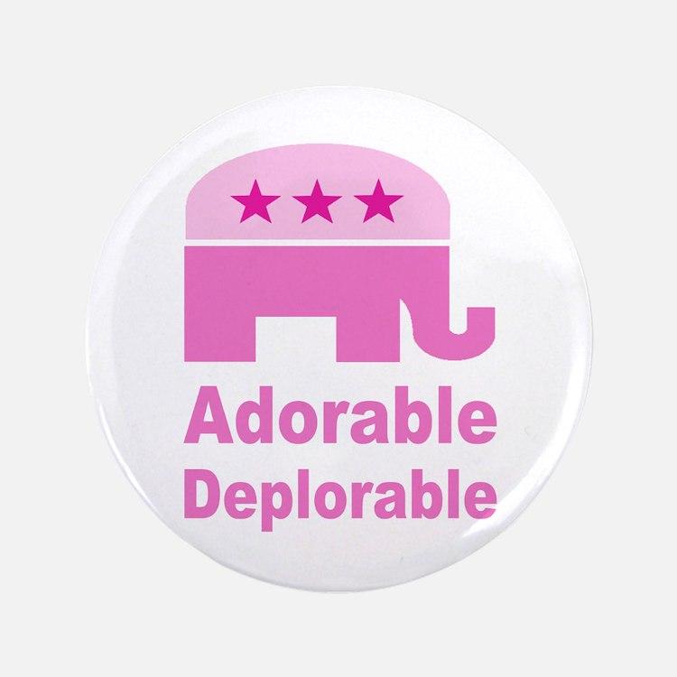 "Adorable Deplorable 3.5"" Button (100 pack)"