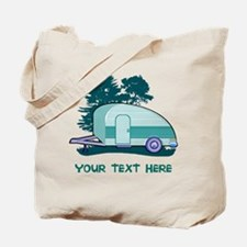 Personalize Teardrop Trailer Home Tote Bag