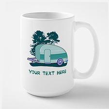 Personalize Teardrop Trailer Home Large Mug