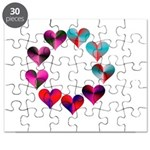 Circle of Iridescent Hearts Puzzle