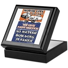 MOTOR CITY GARAGE 2 Keepsake Box