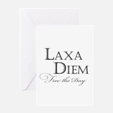 """Laxa Diem"" Greeting Card"