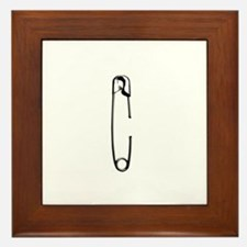 Safety Pin Framed Tile