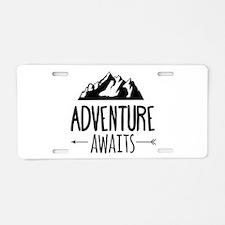 Cute Travel Aluminum License Plate