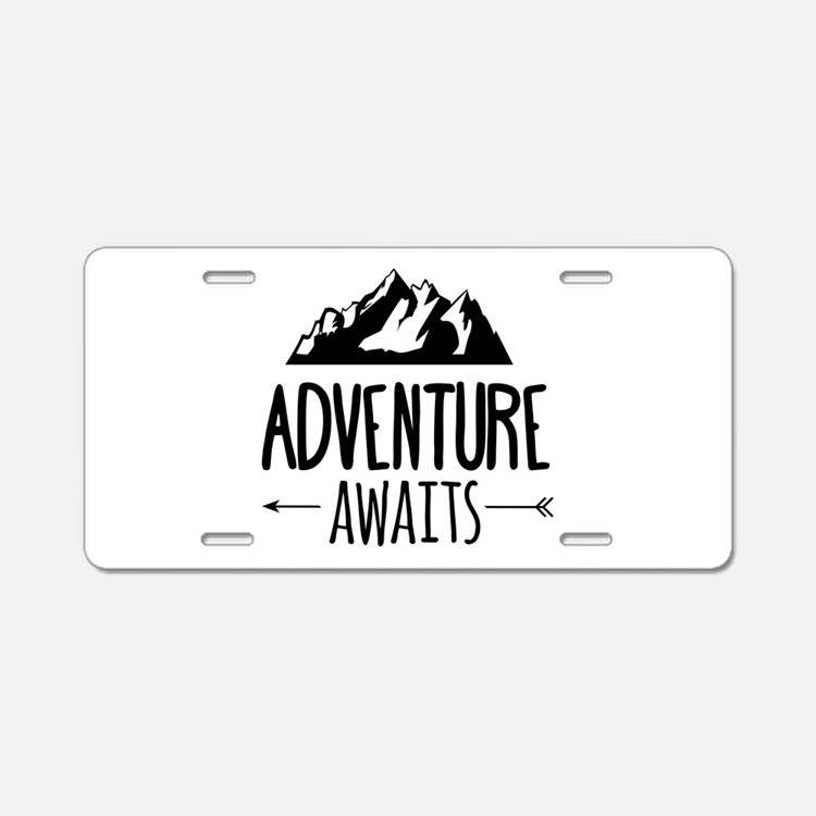 Cute Adventure Aluminum License Plate