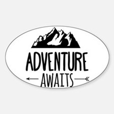 Cute Travel Sticker (Oval)