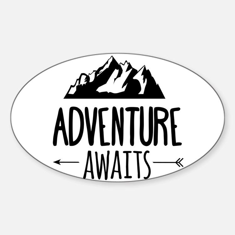 Cute Adventure Sticker (Oval)