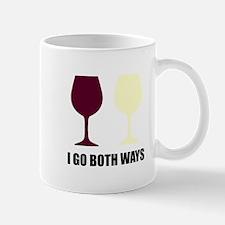 I Go Both Ways Wine Mugs