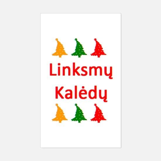 linksmy kaledy Sticker (Rectangle)