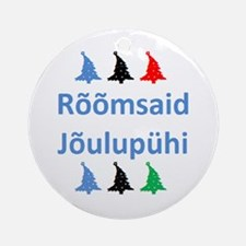 roomsaid joulupuhi Round Ornament