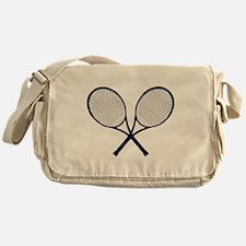 Crossed Rackets Silhouette Messenger Bag