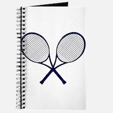 Crossed Rackets Silhouette Journal