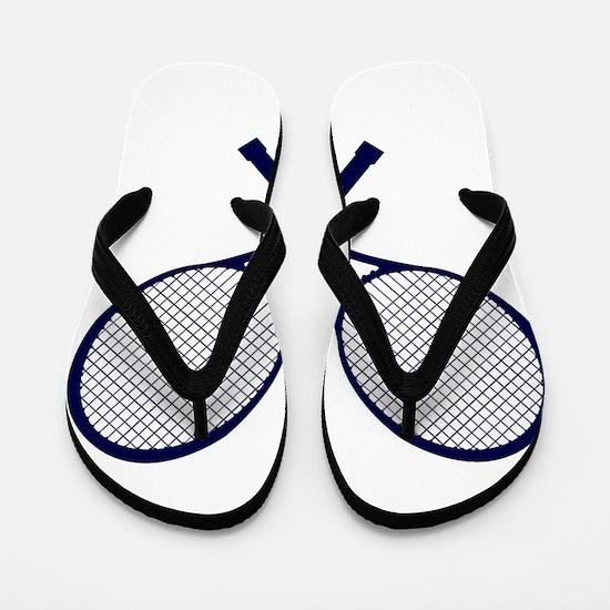 Crossed Rackets Silhouette Flip Flops