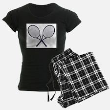 Crossed Rackets Silhouette Pajamas