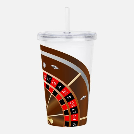 Roulette Wheel Spin Acrylic Double-wall Tumbler