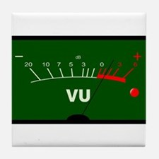 Audio VU Meter Tile Coaster