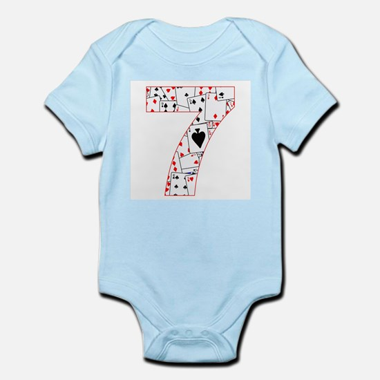 Number Seven Cards Body Suit