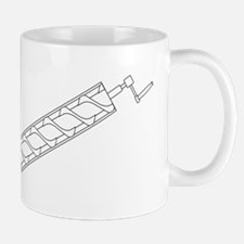 Archimedes Screw Line Drawing Mugs