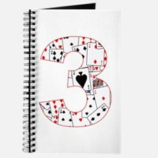 Number Three Cards Journal