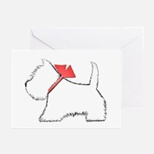 Cute Westie Dog Art Greeting Cards