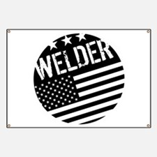 Welder: Black Flag (Circle) Banner