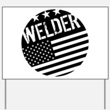Welder: Black Flag (Circle) Yard Sign