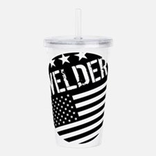 Welder: Black Flag (Circle) Acrylic Double-wall Tu