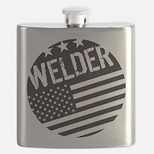 Welder: Black Flag (Circle) Flask