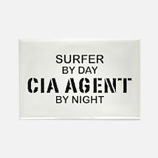 Surfer CIA Agent Rectangle Magnet