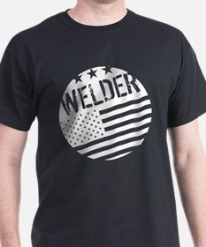 Welder: White Flag (Circle) T-Shirt