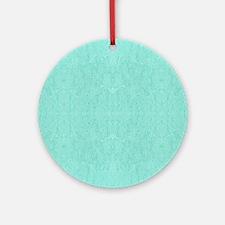 Mint Green Print Round Ornament