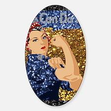 Unique Rosie the riviter Sticker (Oval)