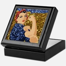 Cute Rosie riveter Keepsake Box